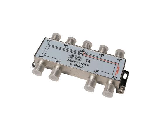 Rozbočovač 8xF 8x10,5dB / 500MHz ret.>18dB 1xDC